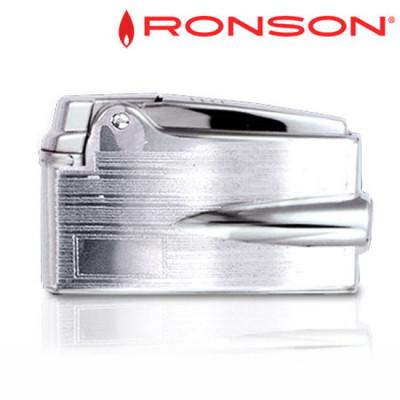 Ronson VaraFlame - Vuursteen aansteker - Chroom + Graveerplaat