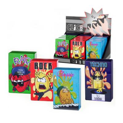 ClicBoxx - Sig.box/huls - Plastic - 85mm - 20 Sig. - Pop-Up Music - Display (12-stuks)