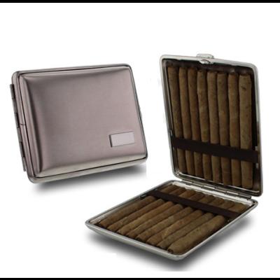 Bookwill - Sigarenkoker - 113x88x23mm - 16x Cigarillo - Nikkel - 1 Stuk