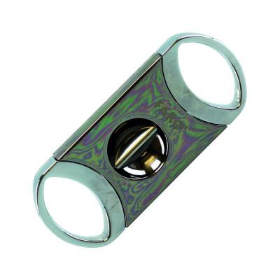 Faro - Sigarenknipper V-Cut - Zilver/Gunmetal - 24mm - giftbox