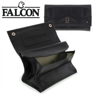 Falcon Roll-up Lamsleder zwart 15 cm + Bodem drukknop