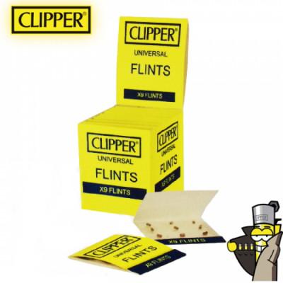 Clipper - Vuursteentjes - B12 - 9 Stuks per kaartje - Display (24-kaartjes)