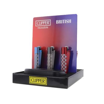 Clipper - Vuursteen aansteker - British - Display (12-stuks)