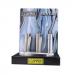 Clipper - Vuursteen aansteker - Zilver Metal + Giftbox gas - Display (12-stuks)