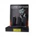 Clipper - Vuursteen aansteker - Matt Zwart Metal - Display (12-stuks)
